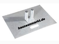 Metall-Bodenplatte für Mobilzaun 70x50cm