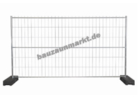 Mobilzaun MZ7 mit 3. Querrohr horizontal